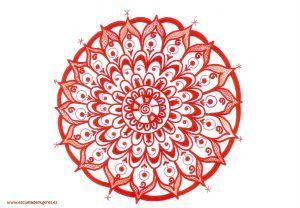 Usa este Mandala Rojo para conectar con tu Sabiduría